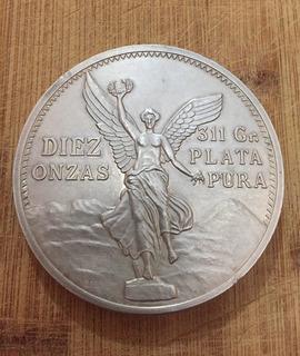 Moneda Diez Onzas, 311 Gr. Plata Pura. Pieza Única