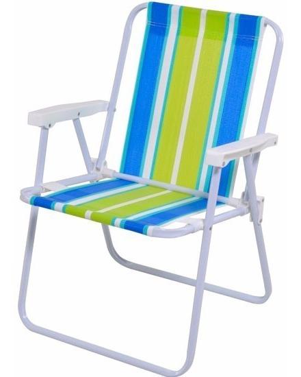 Cadeira De Praia Alta Mor Aço