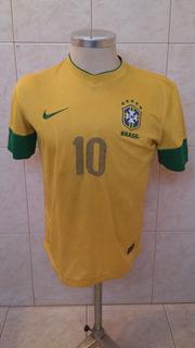 Antiga Camisa De Futebol Da Seleção Brasileira Nike #10 Fm01