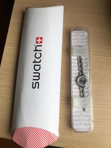 Relógio Swatch Swiss Original Prateado Nunca Usado