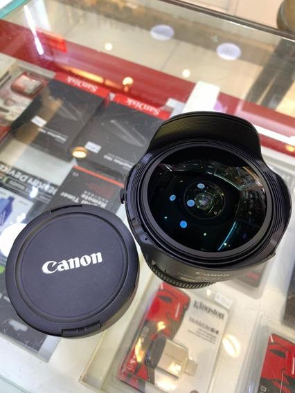 Lente Canon 8-15mm F/4l Usm *usada* - Garantia E Nf-e