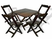 Imagem 1 de 10 de Locacao De Mesas E Cadeiras  Madeira  Plastico Ferro