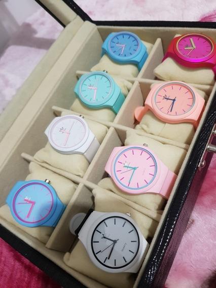Relógios Femininos Nova Tendencias Em Silicone
