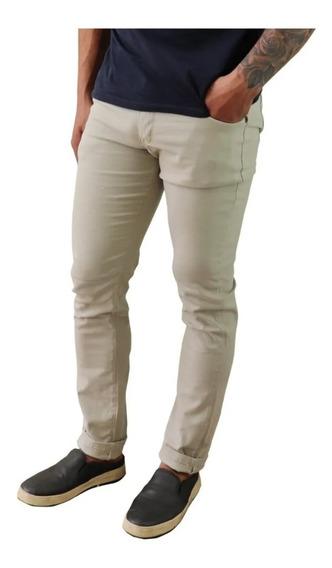 Calça Jeans Sarja Masculina Slim