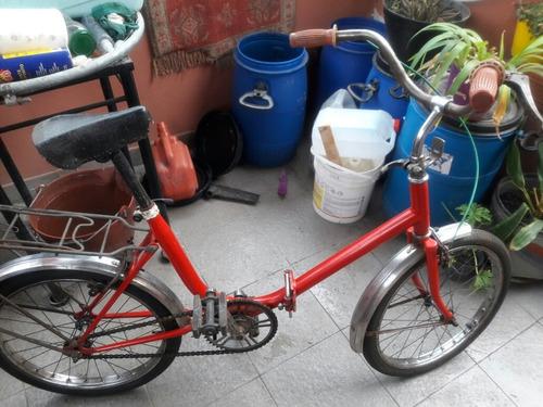 Bicicleta De Los 80' Plegable, Todo Original. Rodado 20''