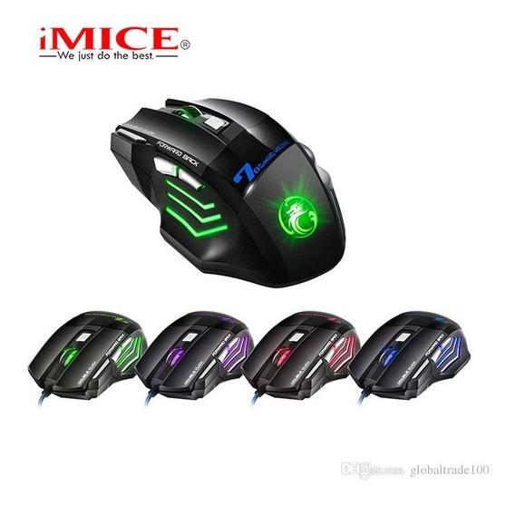 Mouse Profissional Com Fio Gamer 7 Botões 2400dpi F80 Y@