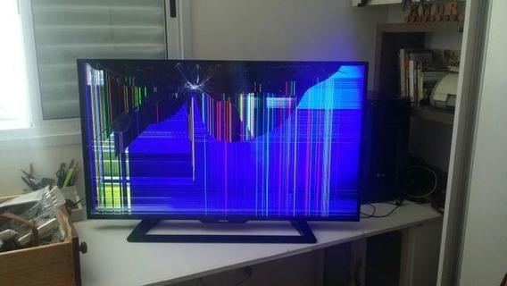 Tv 43 Polegadas Philips 43pfg5000 Tela Quebrada Frete Gratis