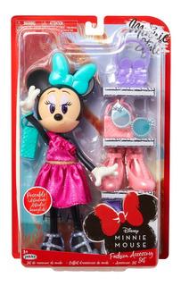 Muñeca Minnie Mouse Original Con Set De Accesorios Y Ropa