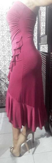 Vestido Soho Straples Rosa Mexicano (tipo Fucsia) Talla 2