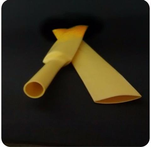 Espaquete Isolante Termo Retratil 15mm Amarelo 5 Metros