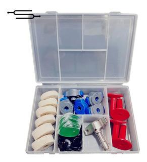 Kit Bateria Mariposa Felpa Bases Llave Arandela Geles Full