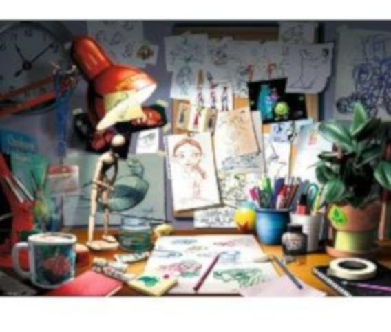 19432 Estudio Artista Disney Pixar Ravensburger 1000 Piezas