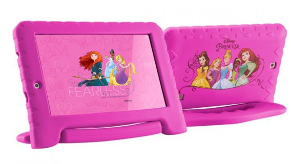 Tablet Rosa Com Capa Emborrachada Princesas 16gb Android 8.1