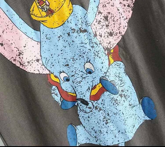 Playera Dumbo Gris Talla L