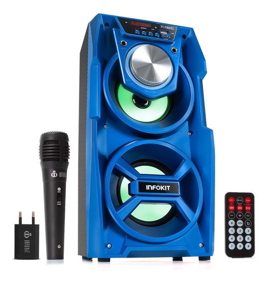 Caixa De Som Amplificada Bluetooth Portatil Grande Potente