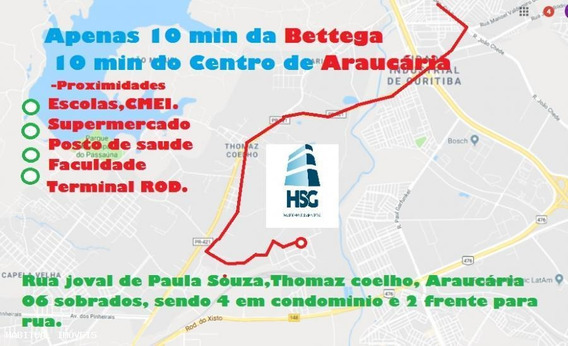Sobrado Para Venda Em Araucária, Thomaz Coelho, 2 Dormitórios, 1 Banheiro, 1 Vaga - 300_1-1023334