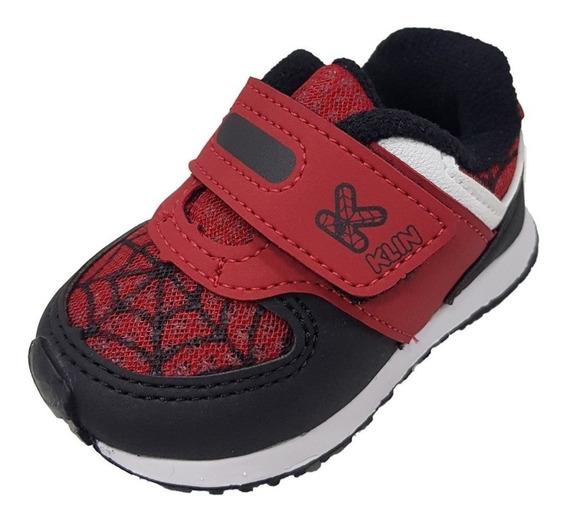 Tenis Masculino Infantil Baby Mini Walk Aranha Klin 17/22 B