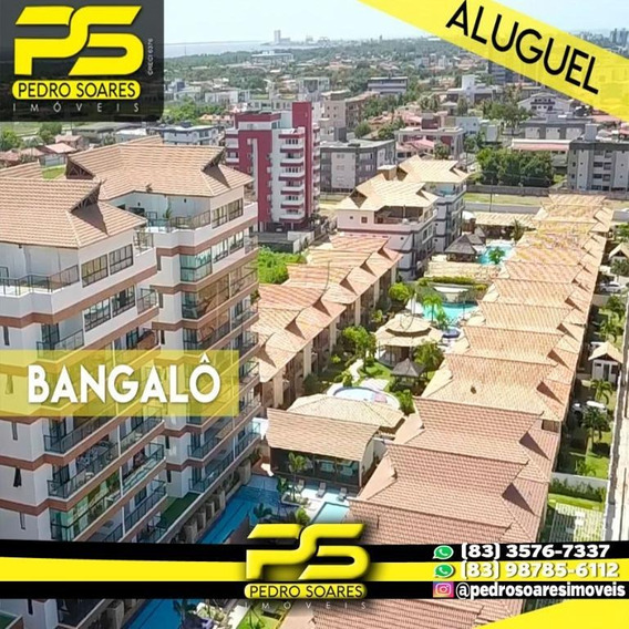 Bangalô Com 3 Dormitórios Para Alugar, 140 M² Por R$ 4.000/mês - Lot. Nazareth - Cabedelo/pb - Bg0015
