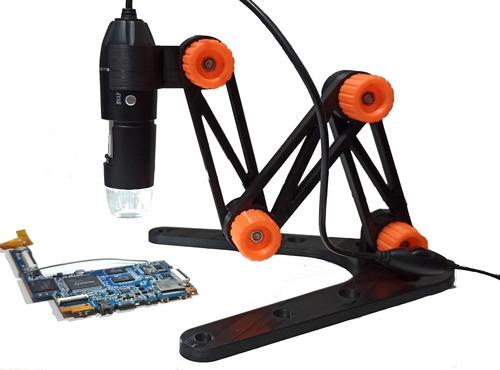 Imagem 1 de 3 de Suporte Base Articulado Microscópio Usb Digital