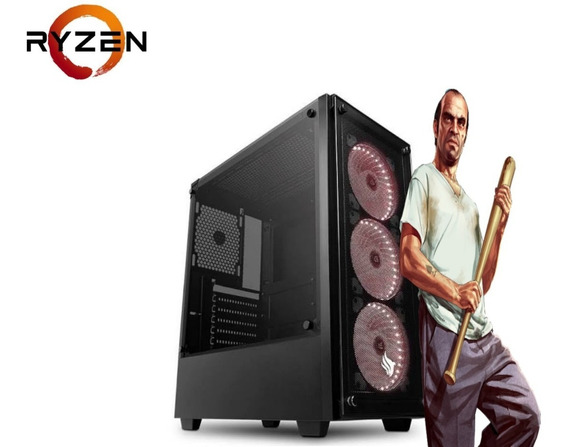 Cpu Pc Gamer Gtav/fortnite Ryzen 3 + 8gb + 600w +30 Jogos