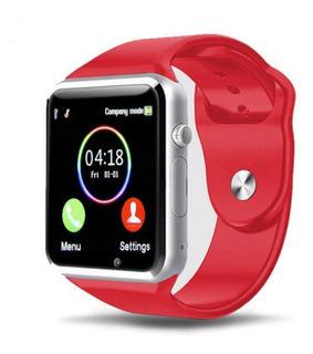 Reloj Inteligente Bluetooth Gsm Android Samsung iPhone Rojo