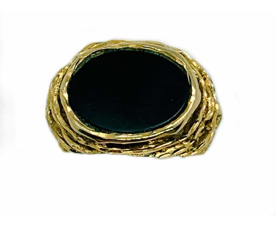 Anillo De Oro 14 K Con Piedra Ónix