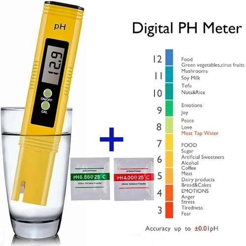 Imagen 1 de 7 de Ph Metro Digital Medidor Phmetro Liquidos + 2 Buffer Powder