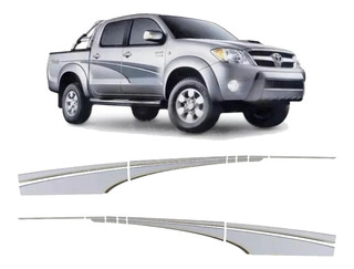Franjas Laterales Toyota Hilux 2005 Calcos 4x4 Turbo Oracal