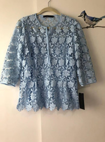 Blusa Em Renda Guipir Zara