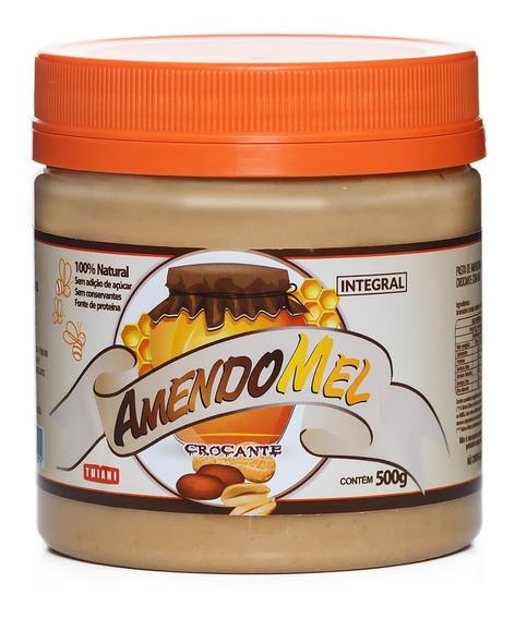 Pasta De Amendoim Amendomel 500g Crocante C/ Cacau S/ Açúcar