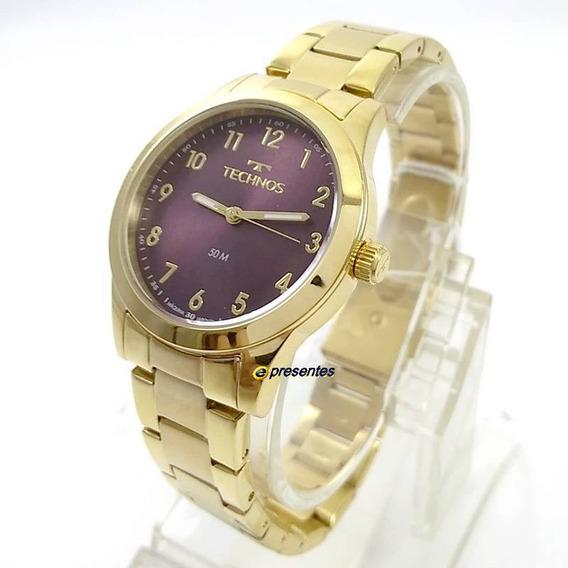 Relógio Feminino Technos Boutique Dourado 2035mkm/4g 37mm