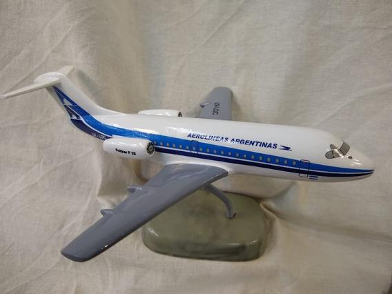 Aviones De Resina Fokker F28 Aerolineas Arg Con Pie