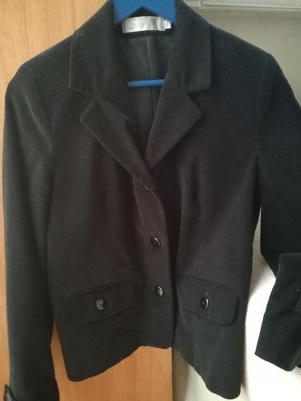 Blazer Saco Chaqueta Negro Impecable Talle S/m Pana Sabrina