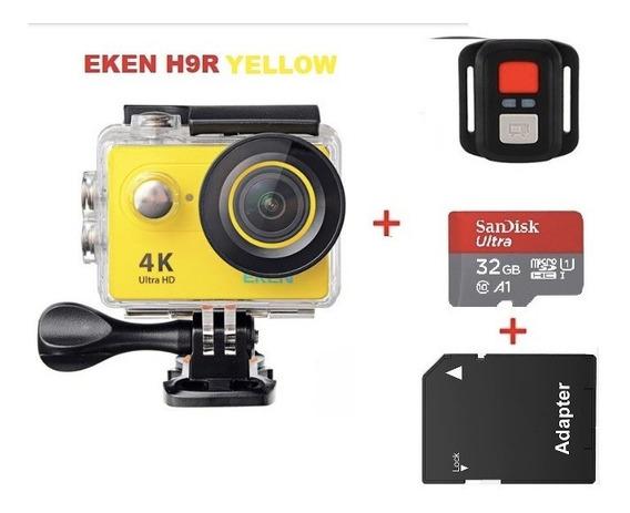 Câmera De Ação Eken H9r + Controle Remoto + Cartão Micro Sd