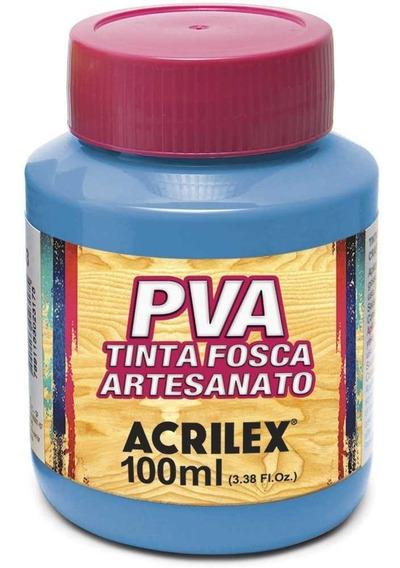 Kit 10 Potes Tinta Pva Fosca Para Artesanato Acrilex 100ml