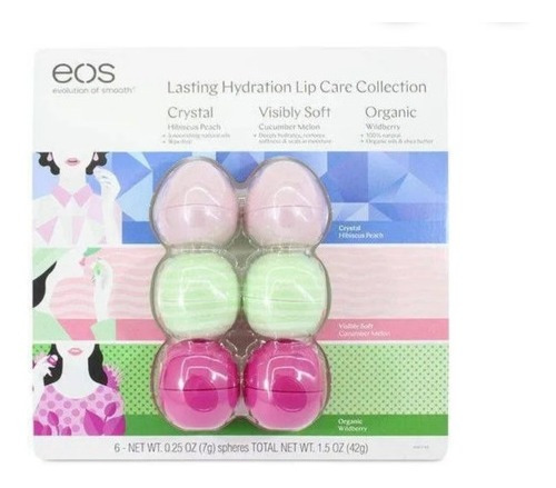 Kit Lip Balm Eos Original Com 6 Unid Lacrado