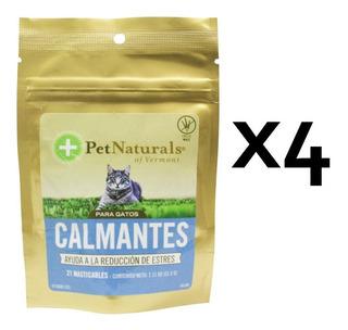 Combo 4 Bolsas Premios Calmantes Gatos Naturals Pn007483x4