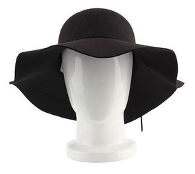 Chápeu Floppy Hat Feltro Wicca Bruxa Gothic Goth Emo Dark