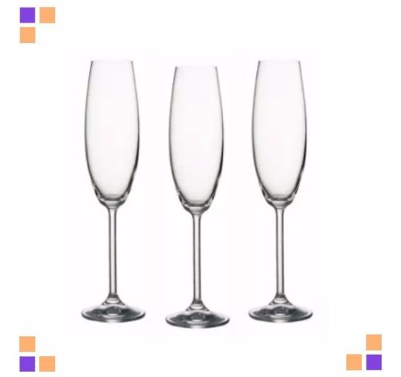 Copa De Cristal Bohemia Champagne 230ml Caja X6 Unidades