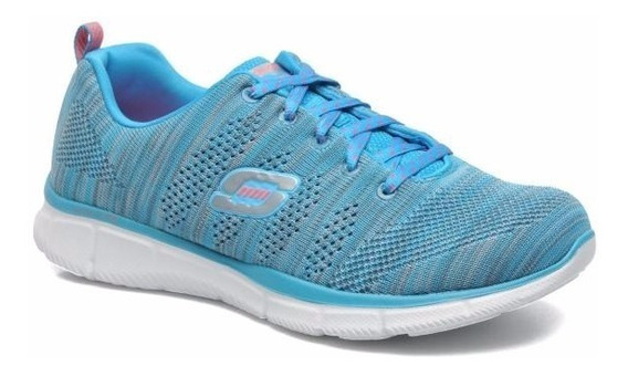 Tênis Feminino Skechers Equalizer First Rate 12033 Rosa Azul