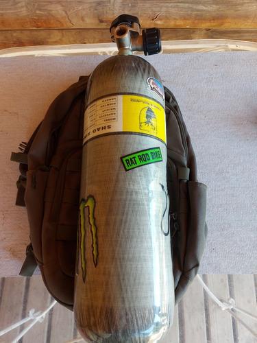 Scuba Pcp Fibra De Carbono 300 Bar 6.8 Litros