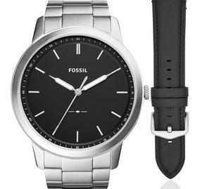Relógio Fossil Masculino Troca Pulseira Original Fs5451set/n