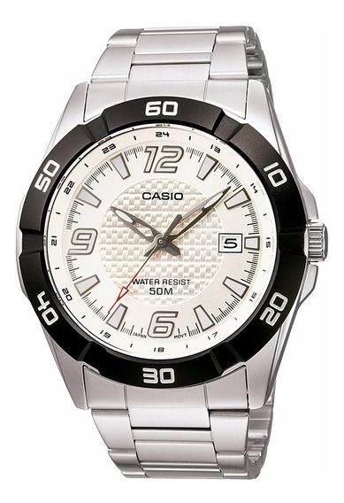 Casio Mtp 1292d-7 Relogio Masculino Aço Data Elegante 50m Nf Garantia Pronta Entrega