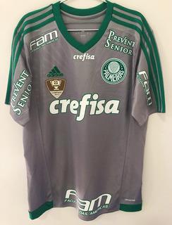 Camisa Palmeiras Brasileiro 2016 Usada Jogo Vagner #25