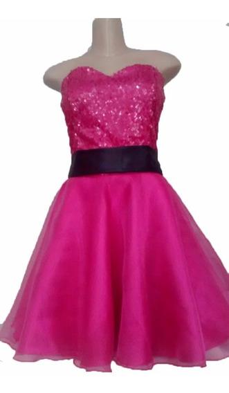 Vestido Debutante Curto15 Anos Formatura E Damas