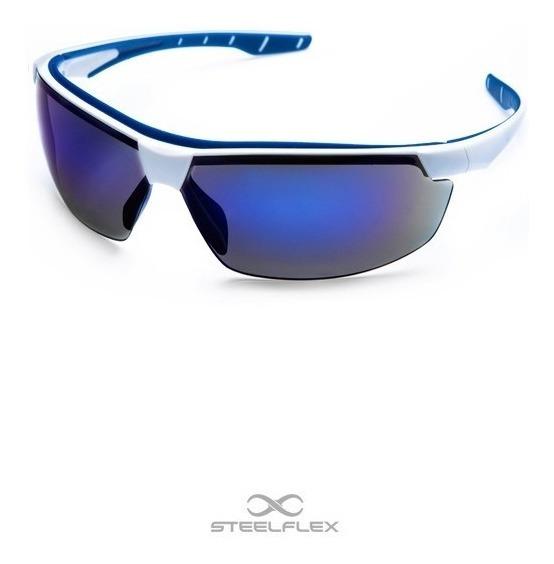 Oculos De Proteção Azul Espelhado Bicicleta Paintball