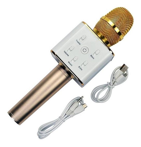 Microfone Karaoke Voice Bluetooth Oex -dourada Mk-100