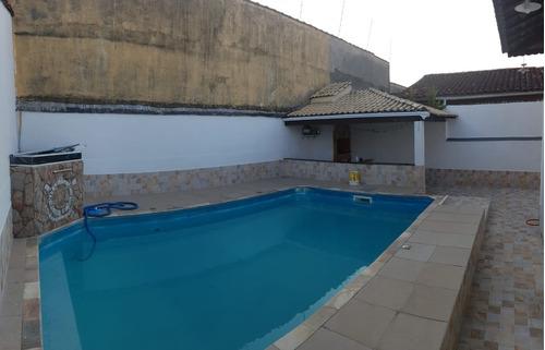 Casa Com Piscina 03 Dormitórios 1 Suíte 7 Vagas, 550 Mil