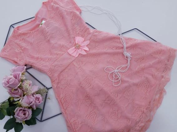 Vestido Infantil De Renda Tamanho 2 4 6 E 8 Roupa Infantil