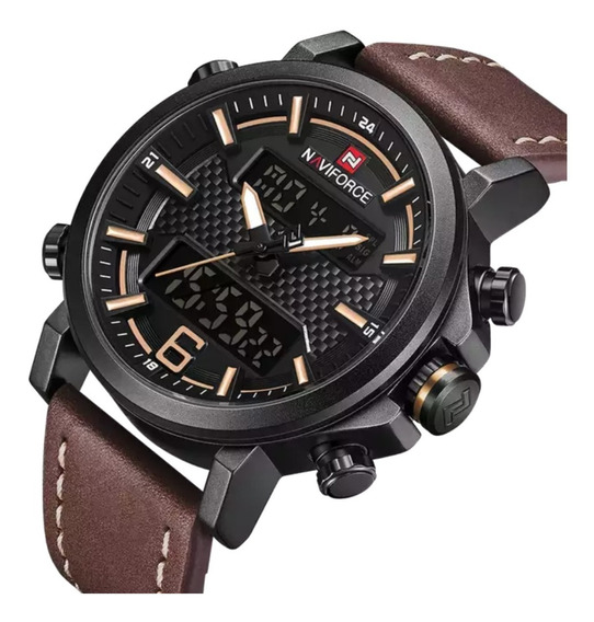 Relógio Naviforce 9135 Masculino Digital Original Prova D